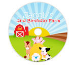 6 BARNYARD Birthday CD LABELS