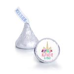 108 Unicorn Birthday Party Favors Personalized Kisses Labels
