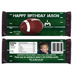 6 FOOTBALL Birthday Boy Party Favors CANDY WRAPPERS