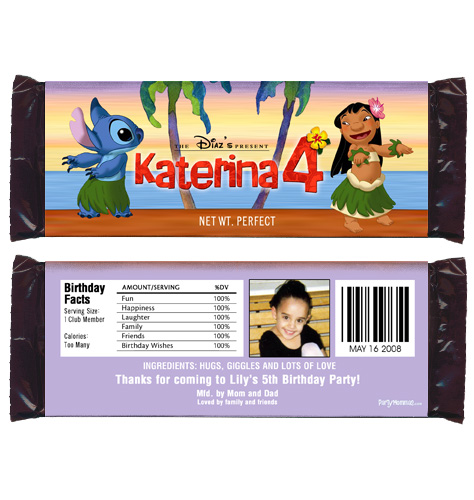 Details about 6 LILO AND STITCH Birthday Party Favor Personalized ...