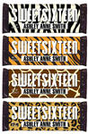 6 SWEET 16 Birthday Candy Wrapper ANIMAL PRINT