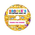 6 Emoji Birthday CD Labels