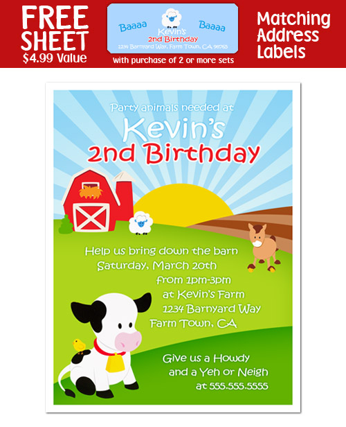 Barnyard Birthday Invitations correctly perfect ideas for your invitation layout