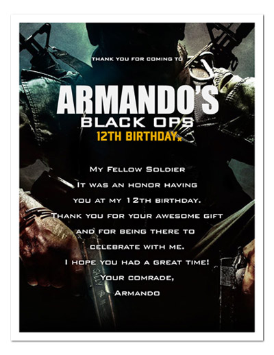 Pin call of duty black ops 10 printable birthday party for Black ops 3 decorations