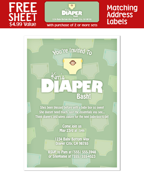8 Diaper Party Shower Invitations | eBay