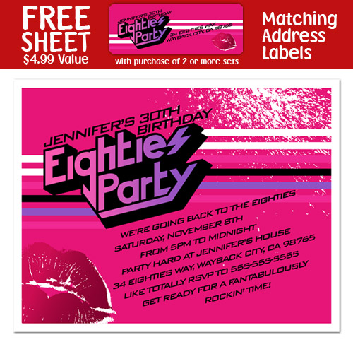 8 eighties 80s birthday party invitation filmwisefo