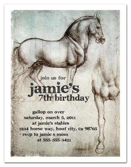 Horse Party Mommas – Horse Party Invitations