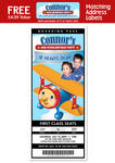 6 AIRPLANE JET 1st Birthday Party TICKET Invitations