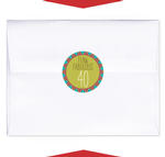 24 FORTY 40 AND FABULOUS Birthday ENVELOPE SEALS