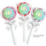 24 HAPPY EASTER Basket Favors 1.65 inch LOLLIPOP STICKERS