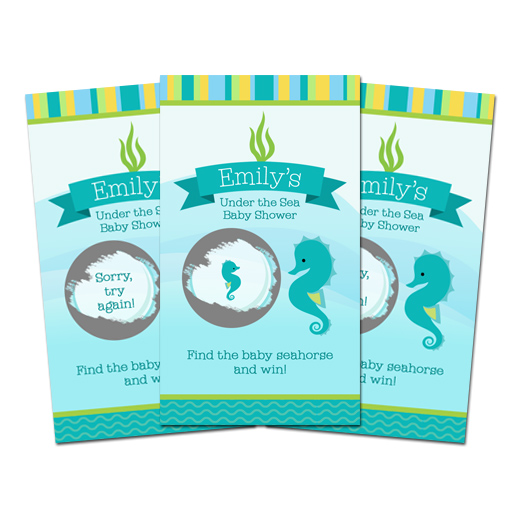 10 Under The Sea Baby Shower Scratch Off Games