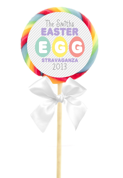 12 HAPPY EASTER Basket Favors 2.5 inch LOLLIPOP STICKERS