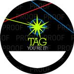 12 LASER TAG Birthday NAME TAG STICKERS