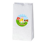6 BARNYARD FARM Birthday Party TREAT BAG STICKERS