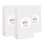 12 Unicorn Birthday Party Favors Personalized Treat Bag Stickers