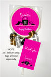 12 HEELS AND PURSES Birthday Party LOLLIPOP STICKERS