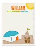 8 BEACH SUMMER PARTY Birthday Party THANK YOU NOTES