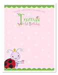 8 LADYBUG Tea Party Birthday Party THANK YOU NOTES