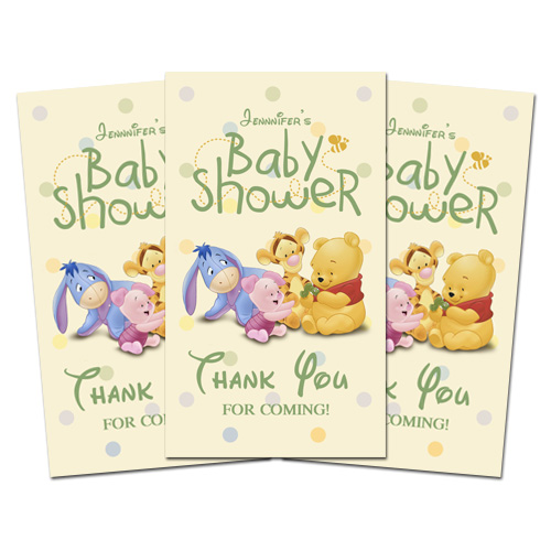 10 baby pooh baby shower party favor thank you tags ebay