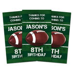 10 FOOTBALL Birthday Party TREAT BAG THANK YOU TAGS