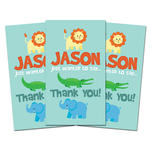 10 JUNGLE ZOO ANIMALS Party Favors THANK YOU TAGS