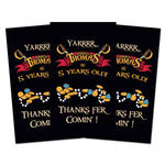 10 PIRATE Birthday Party favor THANK YOU TAGS