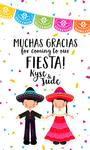 8 MEXICAN FIESTA Birthday 3X5 INCH STICKERS
