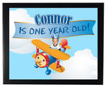 1 AIRPLANE Birthday Party favor 8x10 WALL PRINT